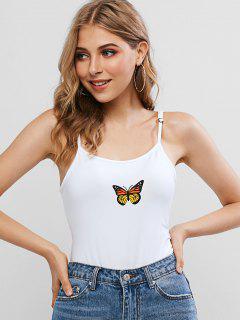 Body Papillon à Bretelle Avec Bouton-Pression - Blanc M