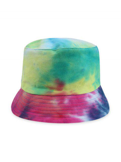 sale Gradient Tie Dye Double Face Bucket Hat - BLUEBERRY BLUE  Mobile