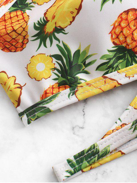 unique ZAFUL Pineapple Low Waisted Wrap Bikini Swimsuit - MULTI-A S Mobile