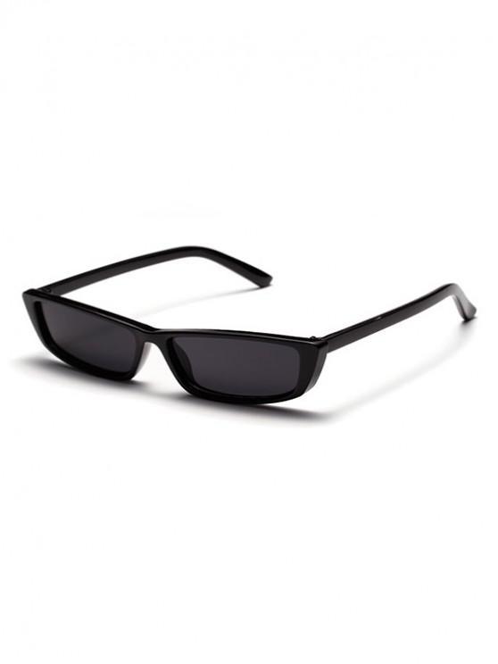 النظارات الشمسية في الهواء الطلق شكل مربع خمر - أسود