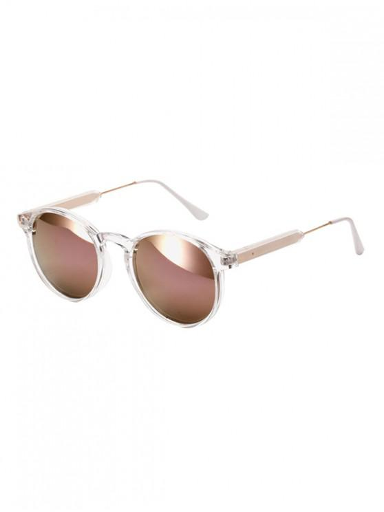 buy Vintage Round Design Outdoor Sunglasses - DULL PURPLE