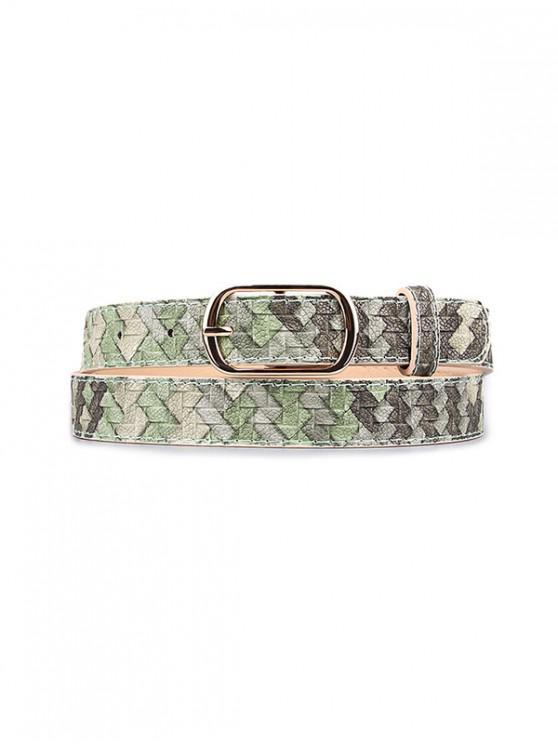Cintura con fibbia con motivo intrecciato - Verde