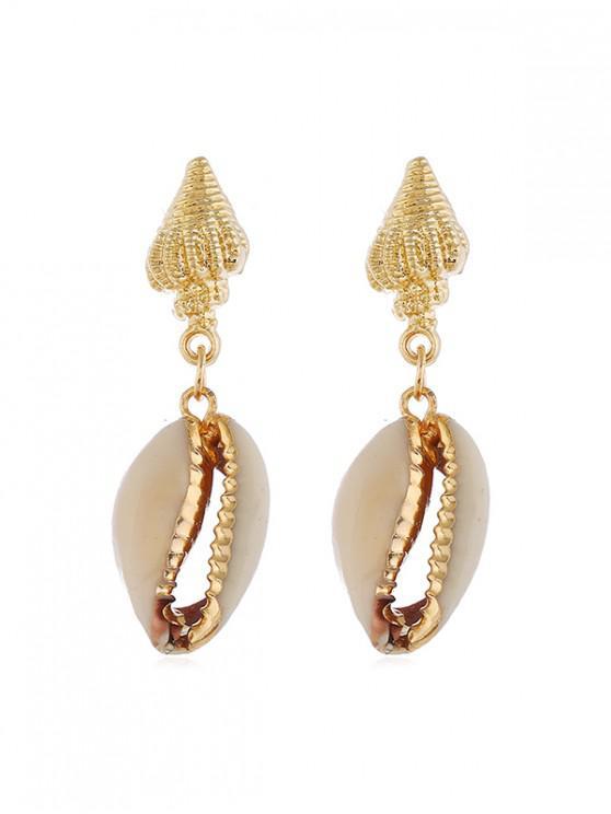 online Conch Shell Stud Drop Earrings - GOLD