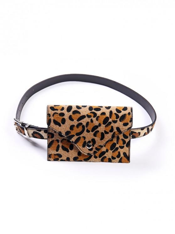 Cintura per cintura in pelle PU con stampa leopardo - Leopardo