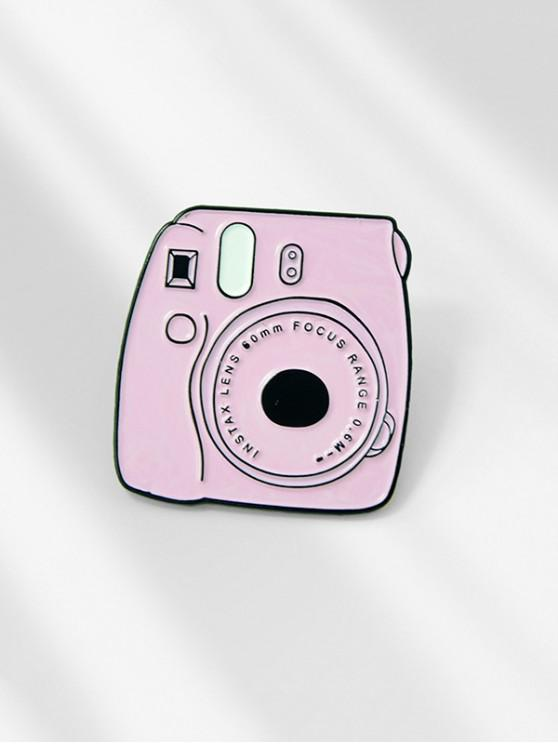 Spilla smaltata a forma di macchina fotografica di cartone animato - Rosa Suino