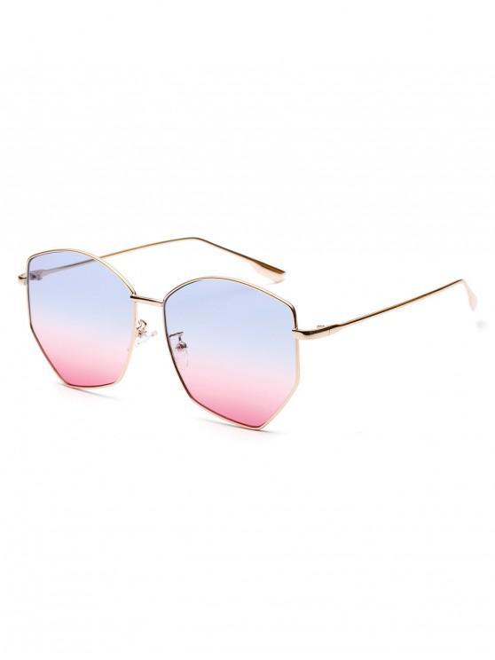 ladies Irregular Stainless Steel Brief Sunglasses - POWDER BLUE