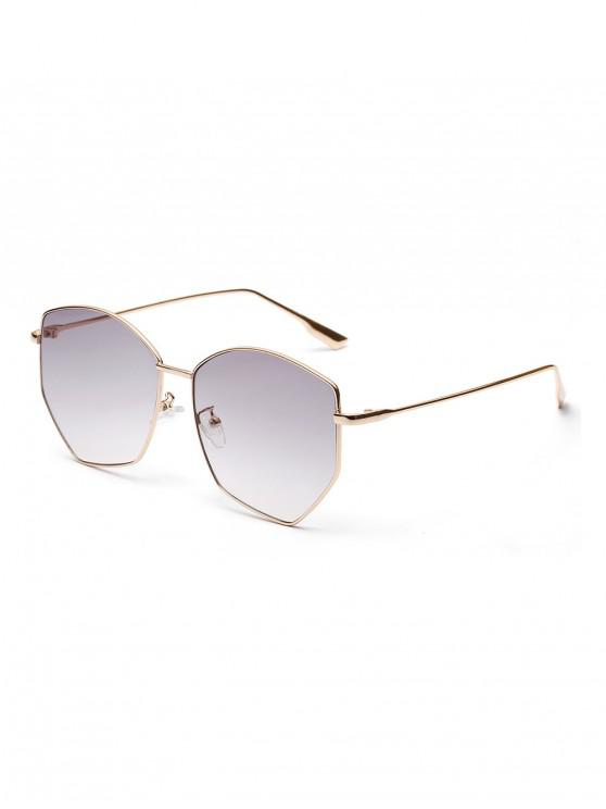 best Irregular Stainless Steel Brief Sunglasses - GRAY GOOSE