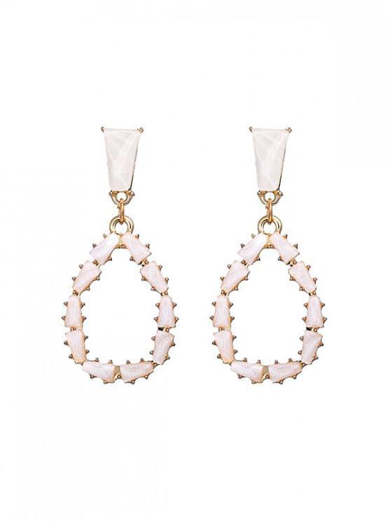 trendy Geometric Stud Earrings - MULTI-B