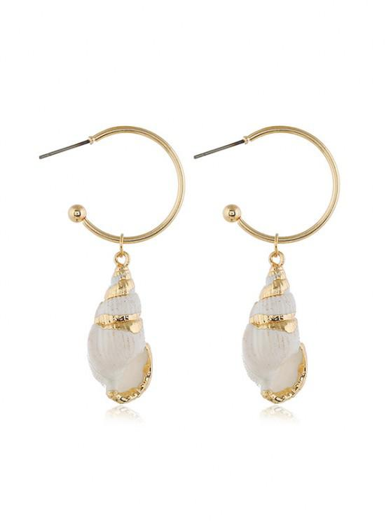 outfits Pair of Conch Drop Earrings - GOLD