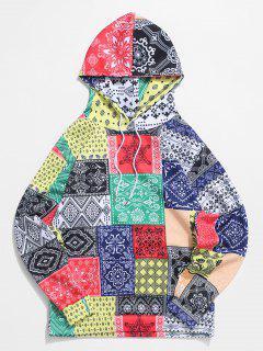Bandana Tribal Print Casual Kangaroo Pocket Hoodie - Multi M