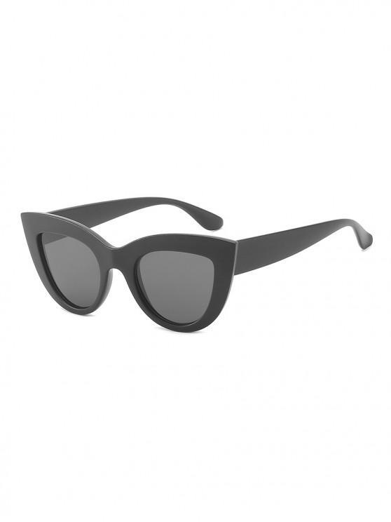 outfit Vintage Wide Rim Anti UV Sunglasses - BLACK EEL
