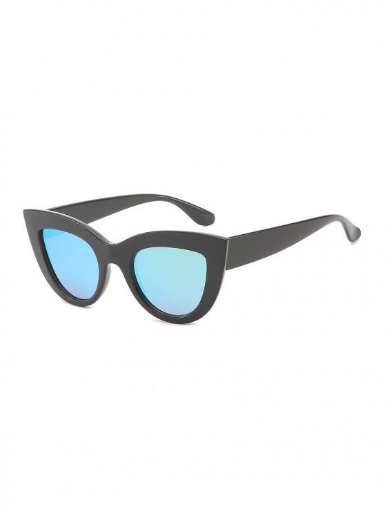 women Vintage Wide Rim Anti UV Sunglasses - DEEP SKY BLUE