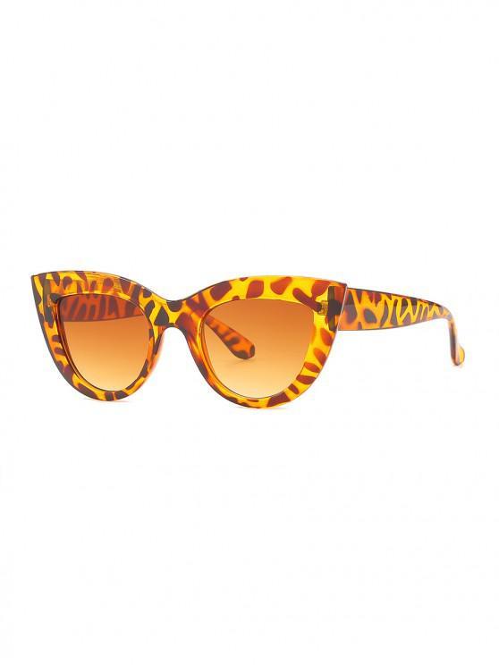 shop Vintage Wide Rim Anti UV Sunglasses - LEOPARD