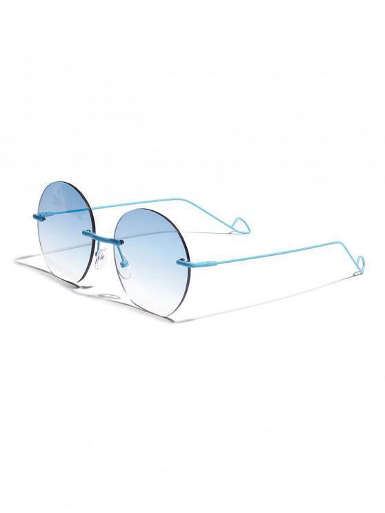 Occhiali da sole senza montatura arrotondati anti UV - Blu Mare