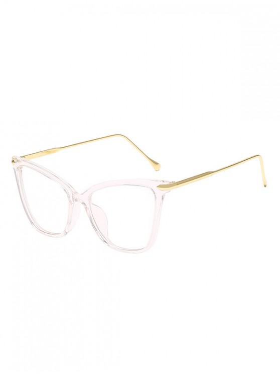 trendy Oversized Catty Eye Transparent Glasses - TRANSPARENT
