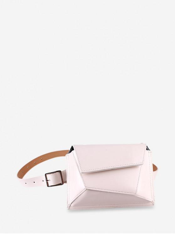 fancy Chain Irregular Shape Crossbody Bag - BEIGE