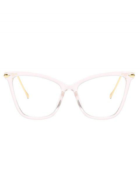 trendy Oversized Catty Eye Transparent Glasses - TRANSPARENT  Mobile