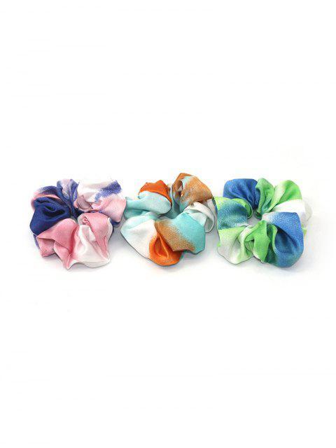 3шт Цветовой блок Принт звездного неба Резинка для волос - фантастика  Mobile