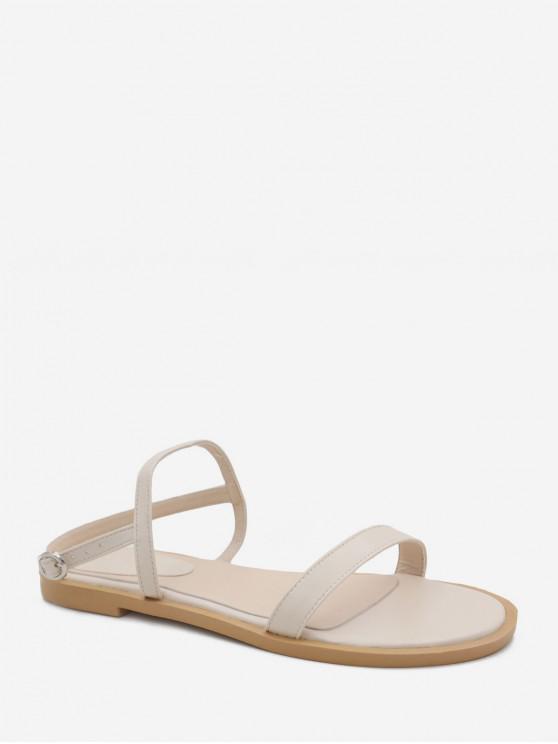 Sandali tacco piatto semplici - Bianca EU 39
