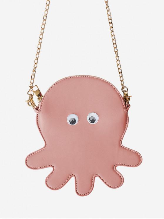 Borsa a tracolla a catena Octopus - Rosa
