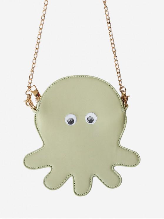 womens Cute Octopus Chain Crossbody Bag - DARK SEA GREEN