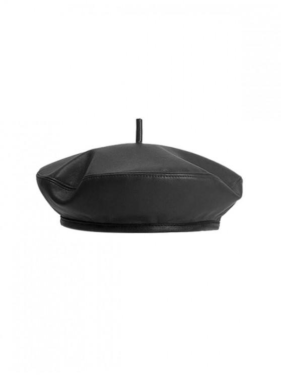 หมวก Beret แปดเหลี่ยม - สีดำ