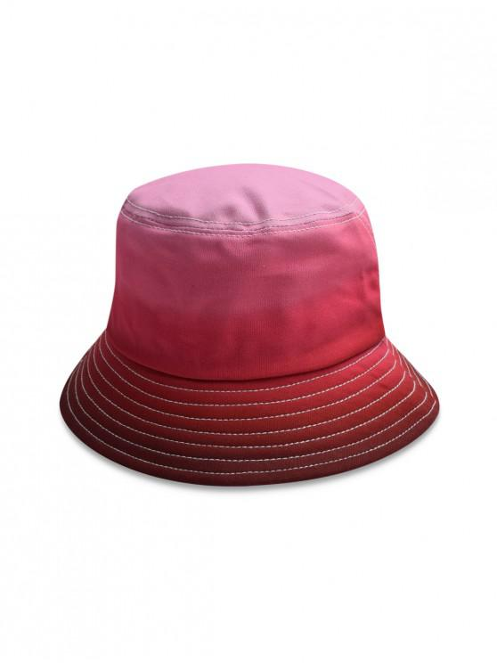 Gradient Fisherman Sun Bucket Hat - Rosso
