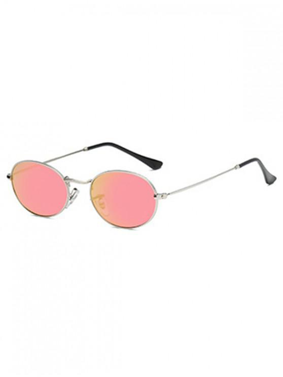 ladies Oval Retro Street Sunglasses - WATERMELON PINK