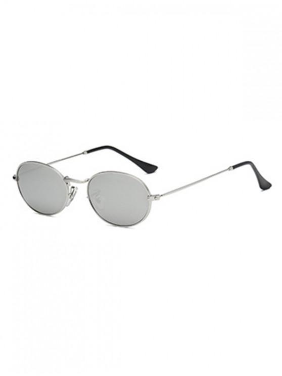 hot Oval Retro Street Sunglasses - SILVER