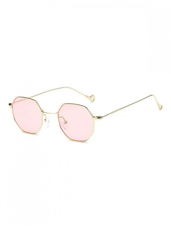 Ottagonale Retro piccoli occhiali da sole - Rosa
