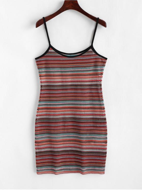Mini abito mimetico con suoneria openwork ZAFUL - Multi Colori-A L