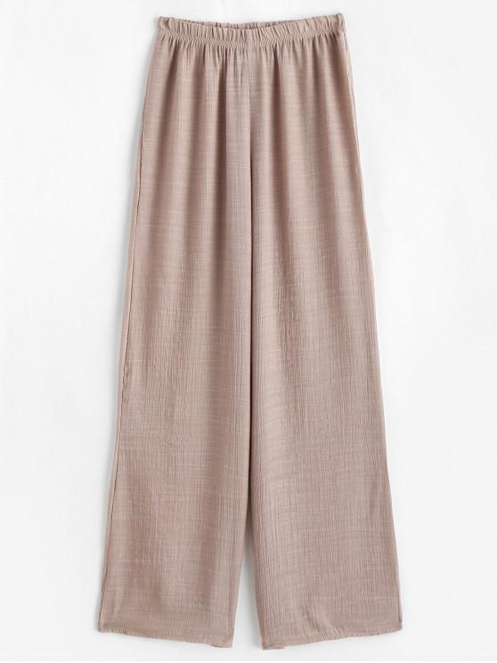 womens Semi Sheer Beach Pants - LIGHT KHAKI ONE SIZE