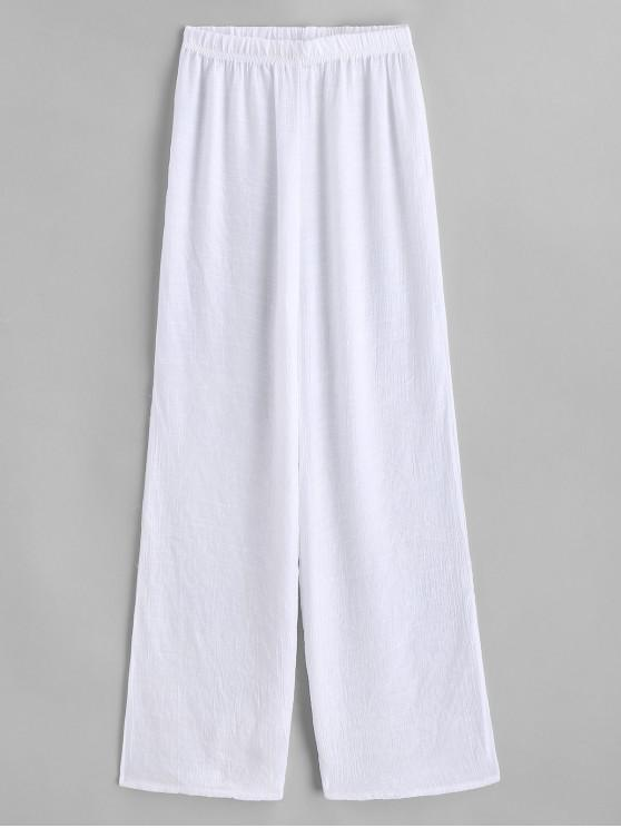 womens Semi Sheer Beach Pants - WHITE ONE SIZE