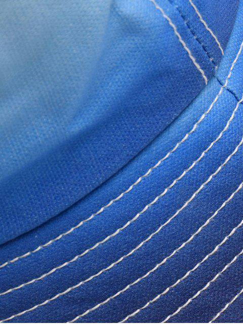 lady Gradient Fisherman Sun Bucket Hat - BLUE  Mobile