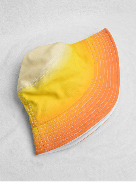 outfit Gradient Fisherman Sun Bucket Hat - YELLOW  Mobile