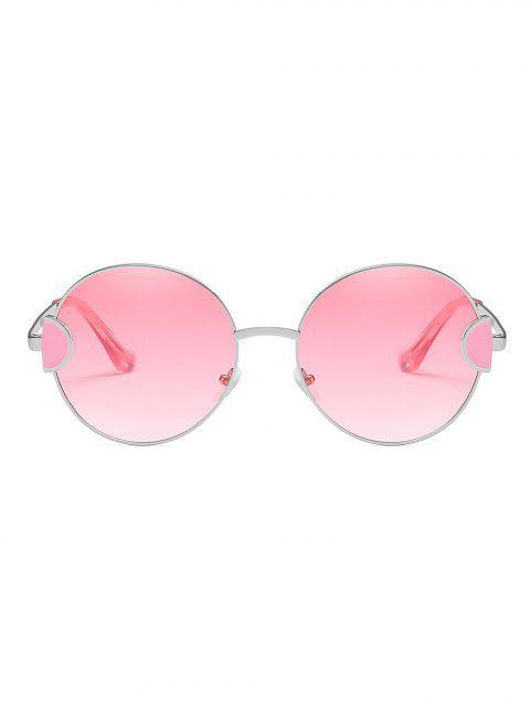 Lunettes de Soleil Rondes Vintages Monture en Métal - Rose Cochon  Mobile