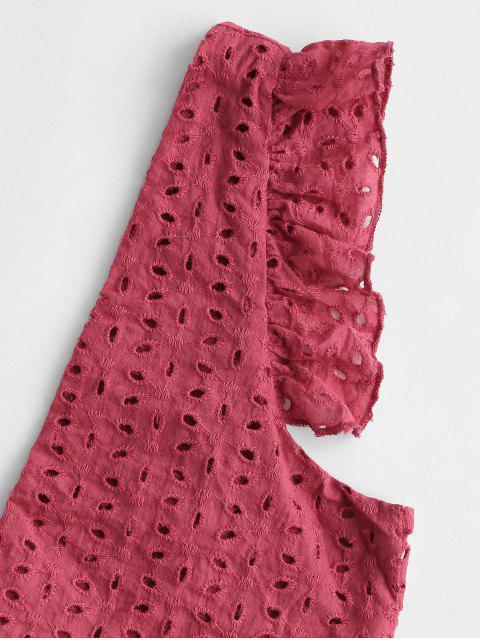 Ensemble de Shorts Paperbag Ceinturé Plongeant à œillet - Rouge S Mobile
