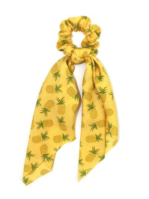 chic Pineapple Print Scrunchie - BRIGHT YELLOW  Mobile