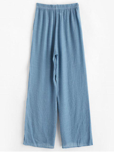 unique Semi Sheer Beach Pants - BLUE GRAY ONE SIZE Mobile