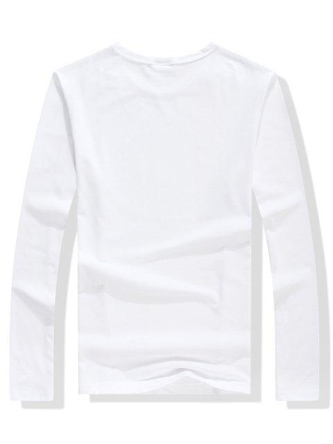 Walking Men Stripes Letter camiseta estampada gráfica - Blanco S Mobile