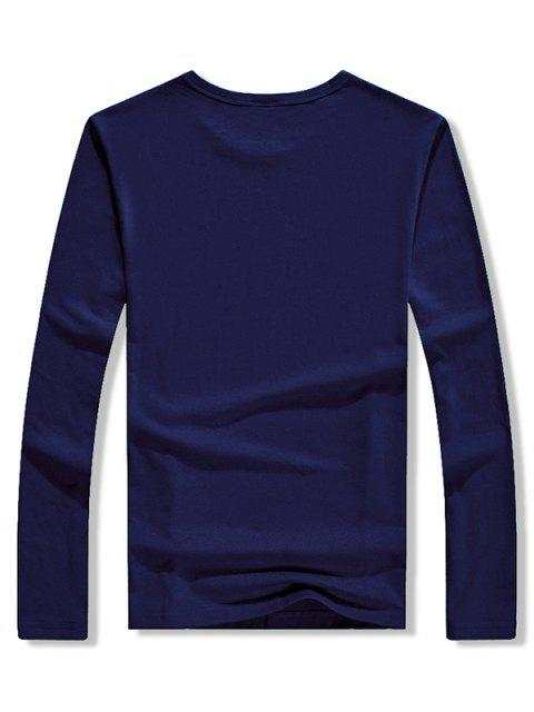 Walking Men Stripes Letter camiseta estampada gráfica - Cadetblue XL Mobile
