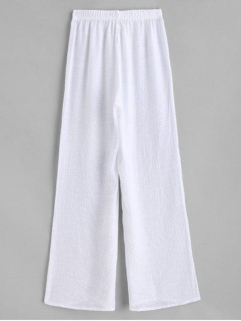 womens Semi Sheer Beach Pants - WHITE ONE SIZE Mobile