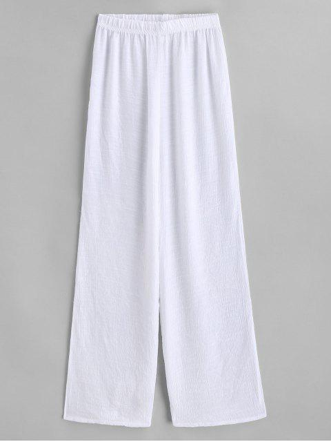 Pantalon de Plage Semi-transparent - Blanc Taille Unique Mobile