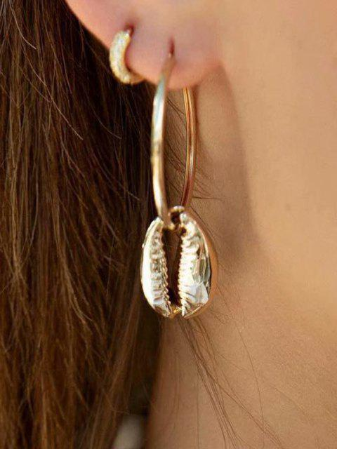 outfits Cowrie Shell Hoop Earrings - GOLD  Mobile