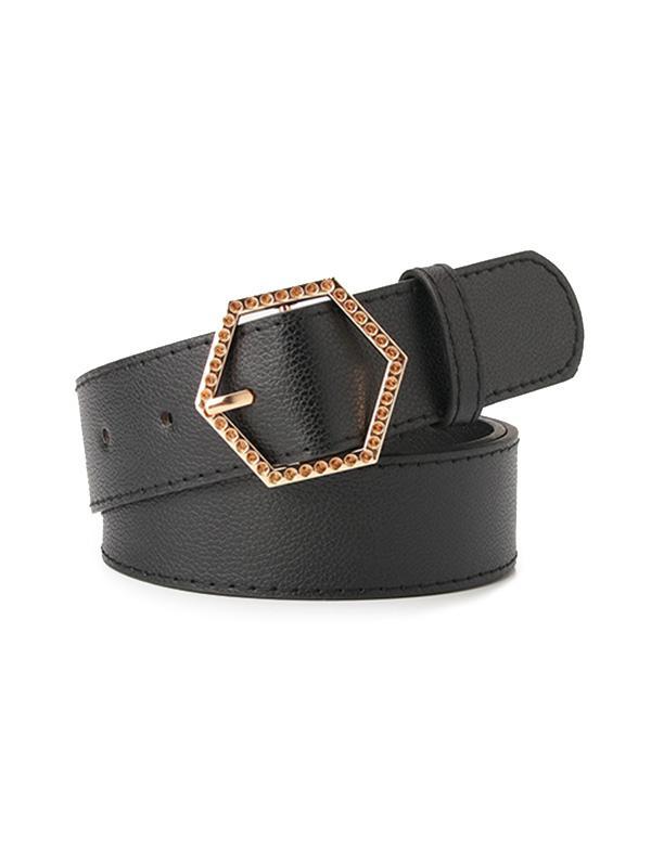 Metal Sexangle Buckle Belt