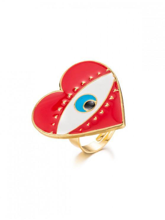 best Devil Eye Heart Cuff Ring - GOLD