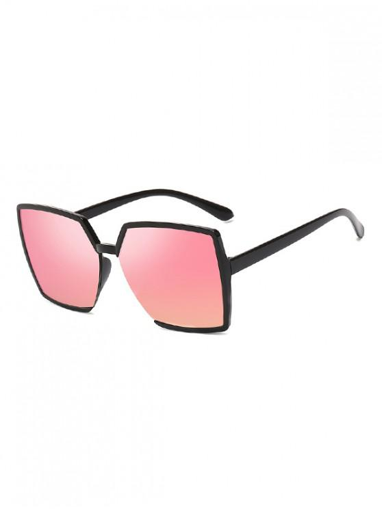lady Oversized Square Driving Sunglasses - PINK