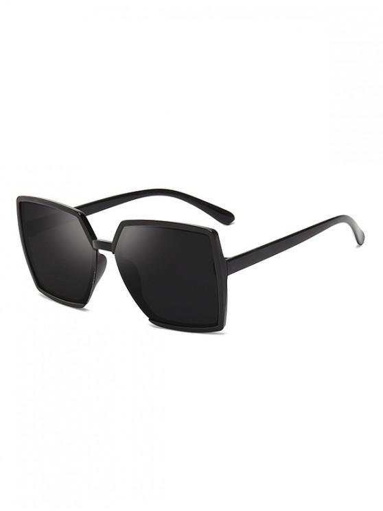 fashion Oversized Square Driving Sunglasses - BLACK