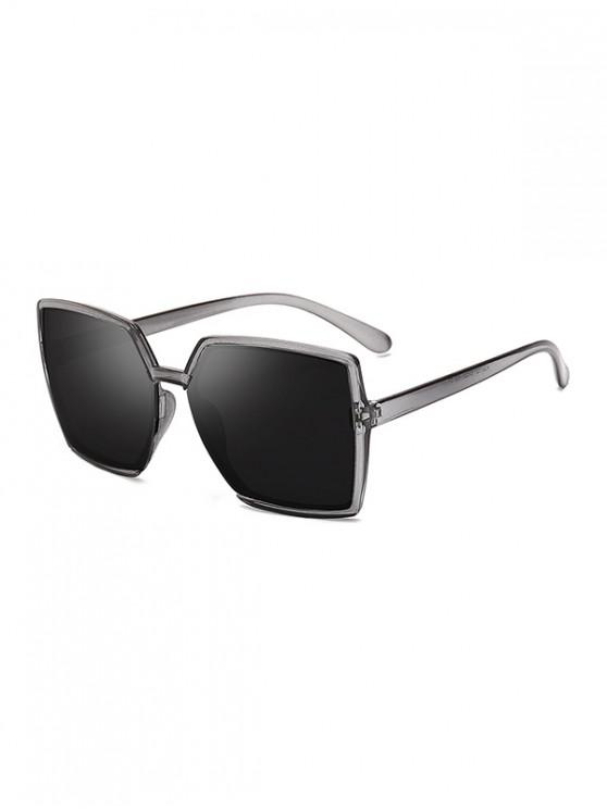 chic Oversized Square Driving Sunglasses - TRANSPARENT
