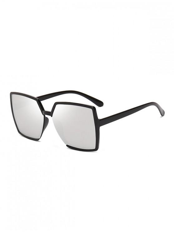 fancy Oversized Square Driving Sunglasses - SILVER